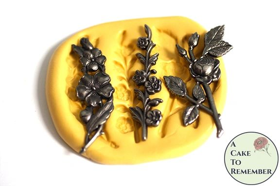 Floral stems mold for cake decorating. M5174