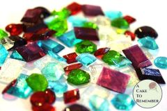 Assorted shapes edible jewels for cake decorating, edible gems