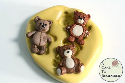 Silicone teddy bear mold for crafts M5208