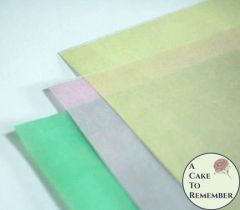 3 sheets of colored printed wafer paper for cake decorating
