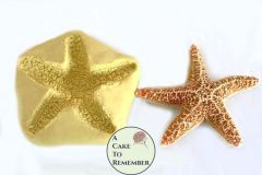 """3"""" Silicone starfish mold for cake decorating or melt and pour soap making"""