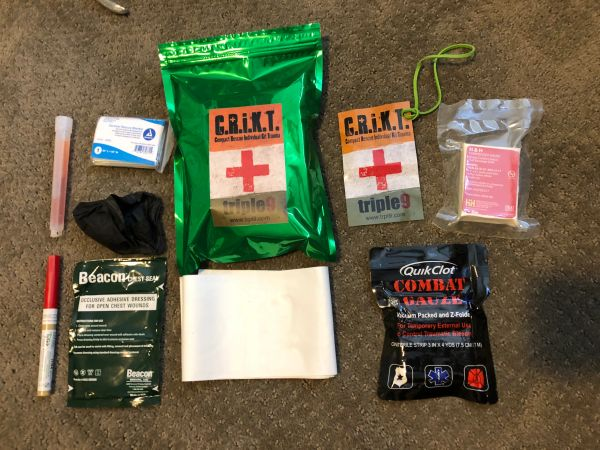 Green Mylar CRiKT v5 Chest seal kit