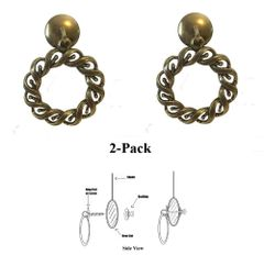 Roll over image to zoom in Designer Series Roller Shade Ring PULLS - Antique Brass Woven Rope 2-Pack