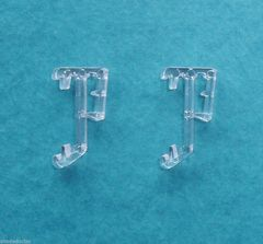"ONE PAIR 1"" Single Slat CLEAR VALANCE RETAINER CLIPS for Wood or Mini BLINDS"