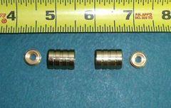 "1 Pair HIDDEN SOCKET Brass Plated BRACKETS for 3/8"" Rodding Doors & Sidelights"