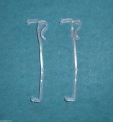 "ONE PAIR (2 each) 3 1/2"" Single Slat VALANCE RETAINER CLIPS for WOOD Mini BLINDS"