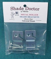 1 pair METAL ROLLER Window Shade UNIVERSAL MOUNT BRACKETS from Shade Doctor of Maine