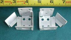 "1 pair METAL Swing Gate 1"" X 1"" Square MICRO or MINI BLIND END BRACKETS"