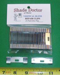 25 Pack Vertical Blind Vane Saver Repair Clips - Flat Style