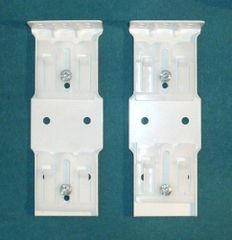 One Pair KIRSCH EMPIRE Push-in DOUBLE TRAVERSE ROD END BRACKETS