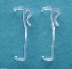 "ONE PAIR - 2 1/2"" Single Slat VALANCE CLIPS for 2"" Faux WOOD MINI BLINDS - New!"
