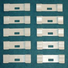 10 Pack VERTICAL BLIND Vane Saver OFF-WHITE Ivory FLAT Metal REPAIR CLIPS - New!