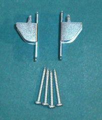 1 pair KIRSCH Lockseam DOUBLE CURTAIN ROD BRACKETS with Screws