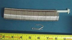 Row of 100 STAINLESS STEEL Drapery Hook Pins for FLAME RESISTANT FABRICS