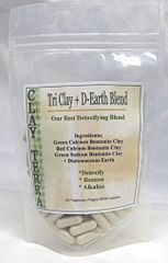 Tri Clay + D-Earth Detox Blend 100 (Vegan) capsules