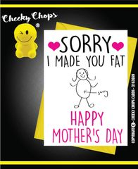 Mother's Day Greeting Card - Fat - M10