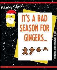 Christmas Card Merry Christmas - It's a bad season for gingers... XM47