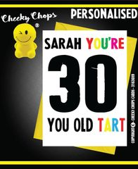 PERSONALISED BIRTHDAY CARD - PO2