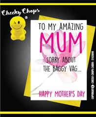 Mother's Day Greeting Card - Baggy Vag - M16