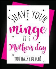 Mum Shave your minge M50