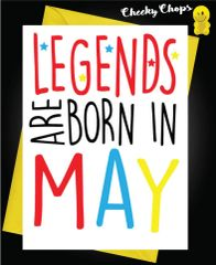Legends are born in (Add your own month) C292