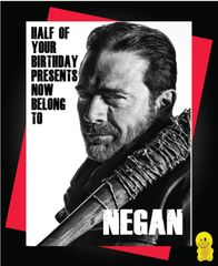 Funny Birthday Cards - Negan c252