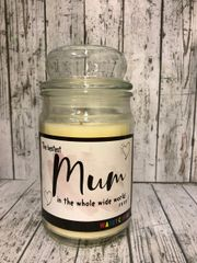 Bestest Mum Wanky Candle (Large 16oz)
