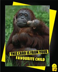 This card is from your favourite child Animal04