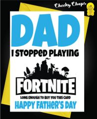 FATHER'S DAY CARD FORTNITE GAME F53