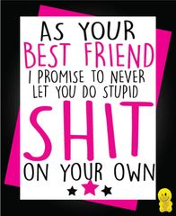 Funny Birthday Cards - BEST FRIEND C224