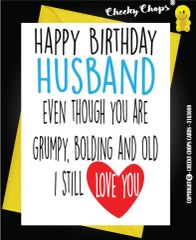 Birthday Card - Husband Bold C23