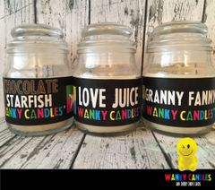WANKY PACK - Wanky Candle ( Starfish, Love Juice, Granny Fanny)