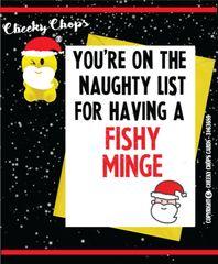 Christmas Card - Fishy Minge XM33