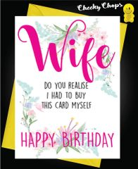 Wife - buy this card myself C447
