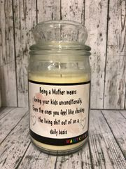 Being a Mum Wanky Candle (Large 16oz) MC9