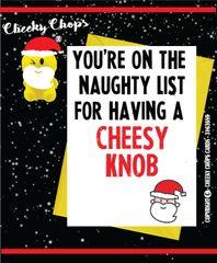 Christmas Card - Cheesy Knob XM34
