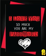I love you so much you are my password V76