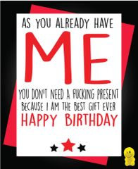 Funny Birthday Cards - Best gift ever c251