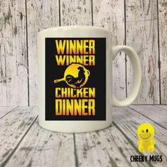 Novelty Gift Mug PUBG Winner Winner Chicken Dinner Mug 504