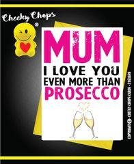 Greeting Card - Mum Prosecco - C201