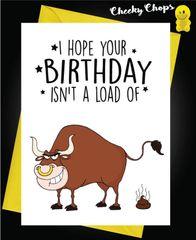 Birthday Card - A load of bullshit c430