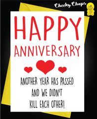 Anniversary Card - Another Year A36