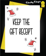 Keep the gift receipt XM114