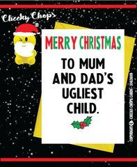 Christmas Card UGLIEST CHILD XM56