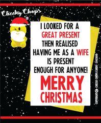 Christmas Card - Wife Husband XM74