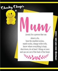 Mother's Day Greeting Card - Mum - Noun - M18