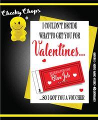 Love, Anniversary, Valentine's Card - Voucher - V46