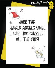 Hark the herald angels sing, who has guzzled all the gin XM115