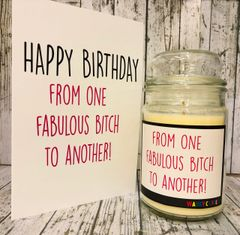 Wanky Candle - From one Fabulous Bitch to another (Large 16oz)