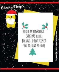 Christmas Card - Emergency Card XM82